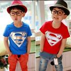 NEW SUPERMAN T-SHIRT UNISEX T SHIRT HOT 1-15 years 5 COLOURS PARTY, for children