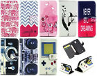 Luxury Painting Leather Folio Wallet Case Pouch For Various Mobile phones 43 C