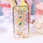 3D Bling Plating Rhinestone Chain Silicone Soft Case Cover For iPone 6 6S Plus