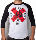 Contract Killer CK Wolf 3/4 Raglan Shirt (White/Black)
