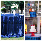 Royal Blue Sequin Tablecloth 48''-156'' Round for Wedding/Dessert Dinning Table