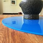 Bright Blue Oval Surface Protectors Easy Wipe Clean for use on any Desk or Table