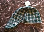 GREEN/WHITE PLAID Welding Hat Welder Hats Cap Protective Gear American Hotties