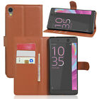 Shockproof Magnetic Leather Flip Wallet Case Cover Card Holder For Sony Xperia