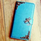 Dragonfly phone wallet Leather flip case Blue Card Stand cover For LG G5 V10 K10