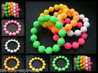 NEON UNISEX CLUBBING RUBBER BALL SILICONE FRIENDSHIP WRIST BRACELET BAND UKSELL