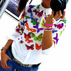 Women's Ladies Printed Blouse Chiffon Floral Long Sleeve Top T shirt Loose Tops
