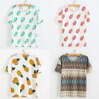 Fashion Womens Girls Loose Printing Short Sleeve Tee Blouse Tops T-Shirt Clothes
