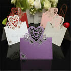 50pcs Heart Cut Table Place Cards Name Number Wedding Party Decoration Ivory