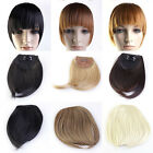 1x Fashion Girls Clip On Clip In Front Bangs Fringe Hair Straight Extension Hot