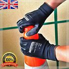 PU COATED BLACK SAFETY WORK GLOVES GARDEN MENS BUILDERS