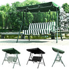 GARDEN PATIO METAL SWING CHAIR SEAT 3 SEATER HAMMOCK BENCH SWINGING CUSHIONED