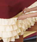 WRAP AROUND Egyptian Cotton Layered Multi Ruffle Bed Skirt Choose Color Size
