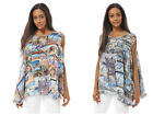 LADIES WOMENS OVERSIZED  CHIFFON ANIMAL PRINT TOP BEACH SUMMER HOLIDAY PARTY F2