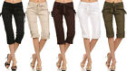 New Women's Casual Twill Capri Pants Shorts