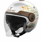 Caberg Uptown Lady Open Face Motorcycle Helmet Womens Jet City Sun Visor Scooter