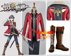 The Legend of Heroes Cosplay Costume+Shoes Boots Sen no Kiseki Rean Schwarzer