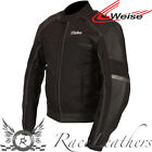 WEISE PSYCHO II 2 BLACK WATERPROOF LEATHER TEXTILE MIX JACKET WITH BACK PROTECTO