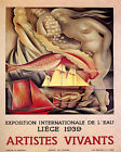 POSTER INTERNATIONAL WATER EXHIBITION 1939 LIVING ARTISTS VINTAGE REPRO FREE S/H