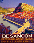 POSTER BESANCON HISTORICAL CENTER MOUNTAINS FRANCE TRAVEL VINTAGE REPRO FREE S/H