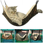 Cat Soft Hammock Leopard Fur Bed Animal Hanging Cage Pet Comforter Ferret New