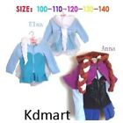 New  Frozen Elsa Anna Snow Queen Hooded jacket with hair 2 - 7 Years costumes