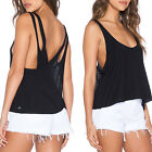Sexy Women Summer Deep Neck Vest Sleeveless Blouse Casual Tank Tops T-Shirt