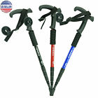 walking sticks - Telescopic Trekking Walking Hiking Sticks Poles Adjustable Length Anti-Shock