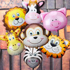 Zoo Animal Face Foil Balloon Kids Jungle Safari Party Favor Supply Props Gifts