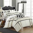 Tuscan Black & White 7 Piece Comforter Bed In A Bag Set