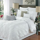 Isabella White 4 Piece Duvet Cover, Pillow  & Shams Set