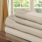 Chic Home Pleated Microfiber Sheet Taupe - Twin, Full, Queen, King