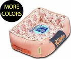 Floral-Galore Vintage Print Rectangular Designer Fashion Pet Dog Bed Beds