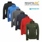 Regatta Mens Thompson Micro Fleece Top Half Zip Anti Pill From £5.49