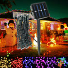 Outdoor Garden Xmas Tree Party Fairy String Lights 50 LED Strip Lamp Solar Power