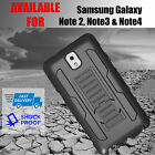 Samsung Galaxy Note 2, Note 3 & Note 4 Tough Kickstand Armor Cover/Case
