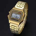 Men Women Luxury Digital Stainless Steel Sports Stopwatch Casual Wrist Watch New