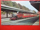 POSTCARD ISLE OF MAN RAILWAY RED LOCO