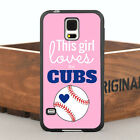 Cool Loves The Cubs Pink Case Cover For Samsung Galaxy S Series & Note Series