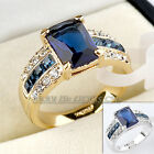 Fashion Simulated Gemstone Ring 18KGP Rhinestone Crystal Size 5.5-10