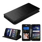 For Samsung Galaxy On5 G550 Leather Flip Wallet Case Cover Stand Black
