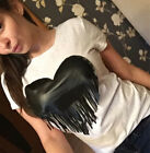 Chest fashion New sexy suit-dress Occident heart-shaped T-shirt tideway