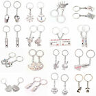 1 Pair Couple Keyring Charm Pendant Purse Bag Key Ring Chain Keychain Lover chic