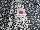 """Black and white floral Vertical Striped Chiffon Fabric 44"""" wide M161-25 Mtex"""