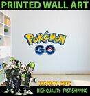 PRINTED WALL ART POKEMON GO GAME LOGO GRAPHIC STICKER KIDS BED ROOM