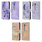 OFFICIAL SELINA FENECH UNICORNS LEATHER BOOK WALLET CASE FOR MOTOROLA PHONES