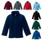 New RUSSELL School Kids Childrens Full Zip Outdoor Fleece 8 Colours 3-12 years