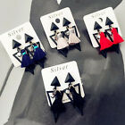 2016 Fashion New Geometry Triangle Tassel Personality Earrings for Women Girls