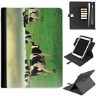 U-COW02 COWS UNIVERSAL PROTECTIVE TABLET LEATHER FLIP WALLET 360 SWIVEL CASE