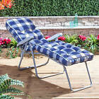 Sun Lounger - Silver Adjustable Frame with Classic Cushion